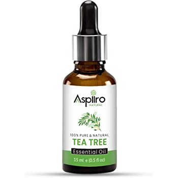 Aspiiro Natural Tea Tree Oil for Skin Acne - 15 ml | 100% Natural & Pure Tea Tree Essential Oil for Skin Acne, Pimple, Face, Hair | Undiluted, Natural Aromatherapy, Therapeutic Grade