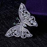 weichuang Brosche, niedliche Schmetterlings-Brosche für Frauen mit Cubic Zirkonia für Damen