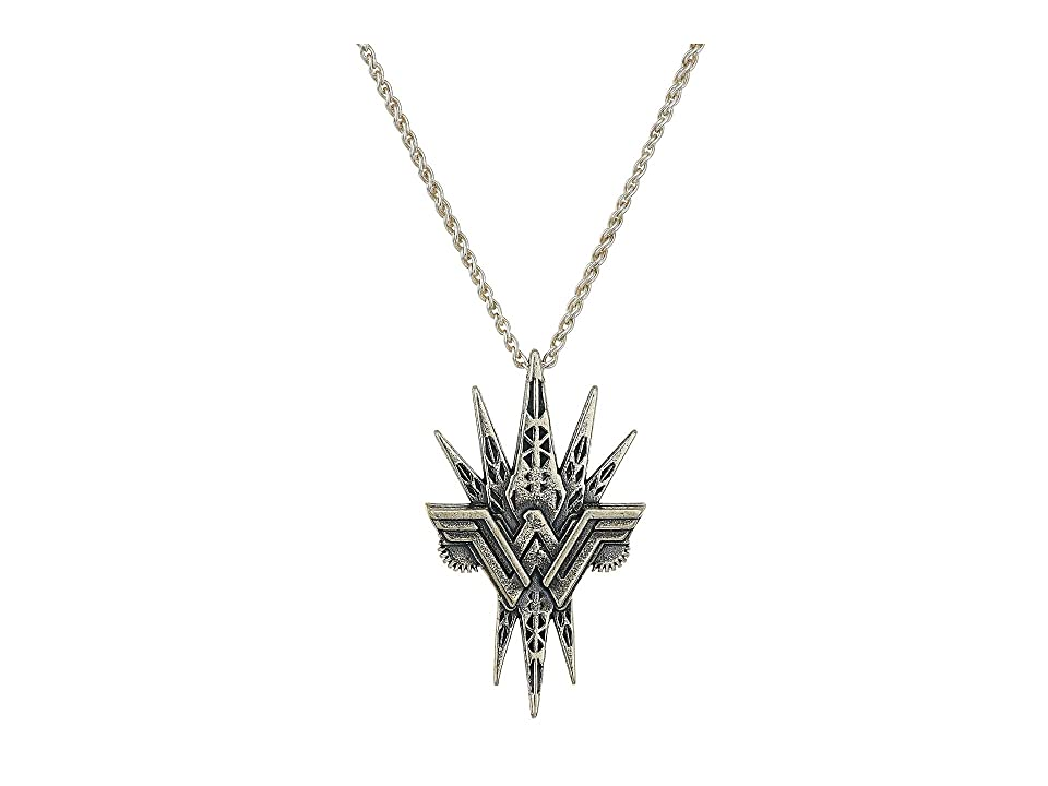 Alex and Ani Wonder Woman Spike 26 Necklace (Sterling Silver) Necklace