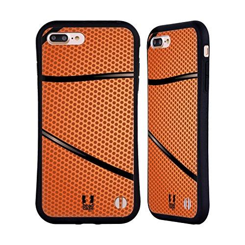 Head Case Designs Baloncesto Colección de Bolas Carcasa híbrida Compatible con Apple iPhone 7 Plus/iPhone 8 Plus