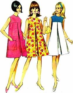 1960s Sleeveless Front Yoke Tent Dress McCall's 8755 Vintage Sewing Pattern