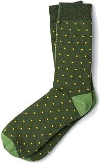 Men's Hipster Polka Dots Novelty Crew Dress Socks