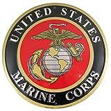 Tags America United States Marines Emblem Metal Sign - US Marine Corps USMC Logo, 12 Inch Round Wall Decor