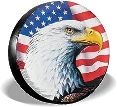 SHOE GONE Car Tire Cover American Flag Spare Wheel Tire Cover for Jeep,Trailer, RV, SUV, Truck Wheel,Camper Travel Trailer Accessories(14,15,16,17 Inch)