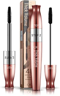 2 in1 4D Silk Fiber Lash Mascara,Double Headed with Lengthening,Curling and Thickening Effect,Waterproof and Long Lasting