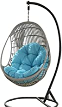 Rosydream Swing Hanging Basket Seat Cushion, Hanging Basket Chair Cushions Hammock Swing Soft Chair Back Pads Solid Color ...