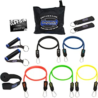 Bodylastics Stackable (12 Pcs) MAX Tension Resistance Bands Sets. This Leading Exercise Band System Includes 5 of Our Best...