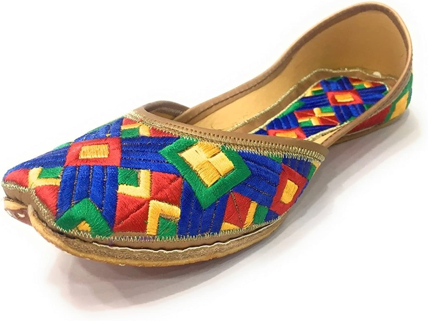 Step n Style Womens Indian Traditional Khussa shoes Jutti Flip Flop Flat Ballet