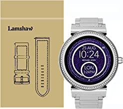 Lamshaw Quick Release Smartwatch Band for Michael Kors Access Sofie, Stainless Steel Metal Replacement Straps for MK Access Smartwatch Sofie Gen 2 (Silver)