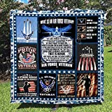 Personalized Women Veteran - Air Force Quilt Quilt Sets King Queen Twin Throw Size Birthday St Patricks Day Gifts Bedding Cover Wall Hanging Mothers Fathers Day Quilt Gifts