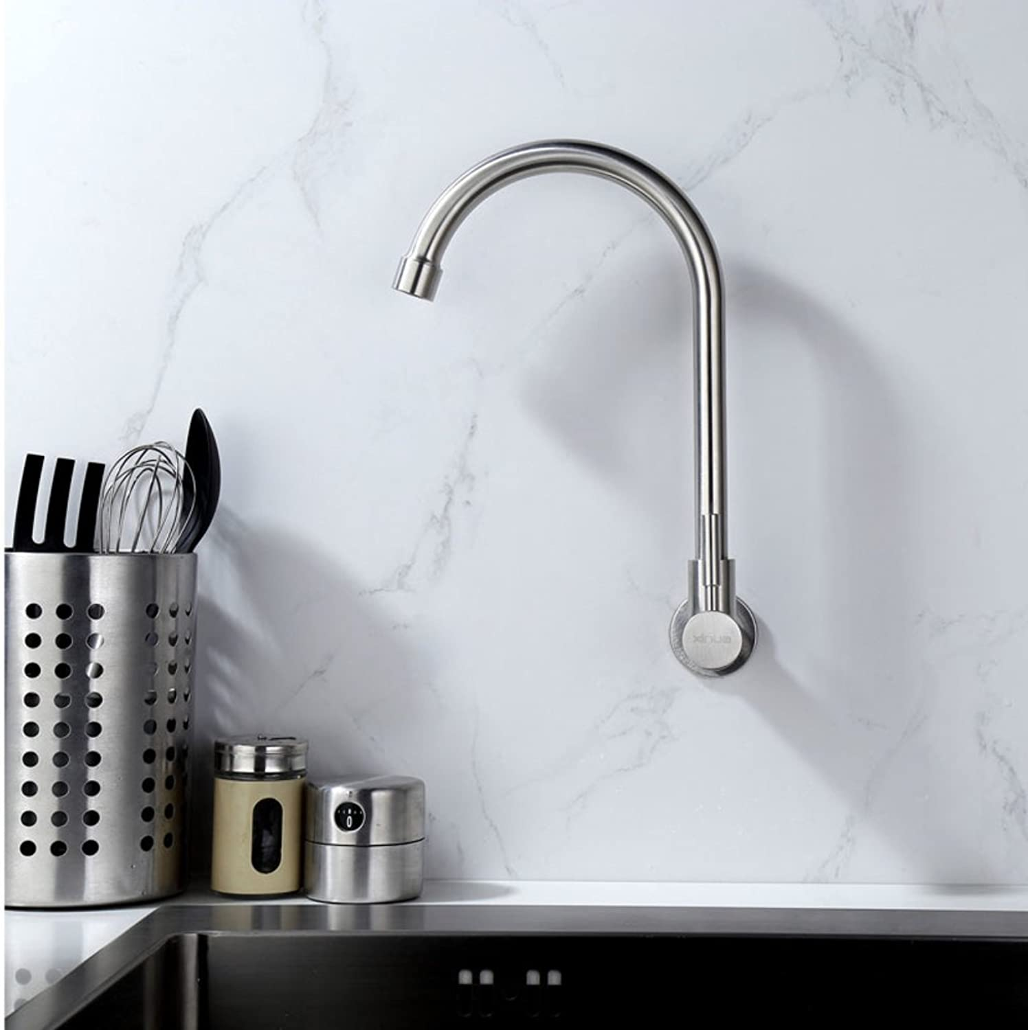Into the wall faucet Modern swivel faucet In-wall redatable Lead-free Stainless steel Tap-A