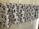 Mickey Mouse with Hearts Black Red Curtain Valance