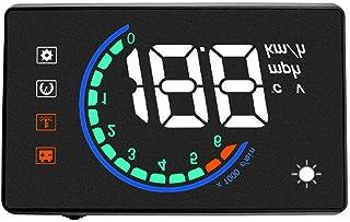 Kaidiasia車載HUDスピードメーター ヘッドアップディスプレイ L2 切り替え ハイブリッド車対応 燃料消費速度警告綜合システム 時速をフロントガラスに 反射フィルム不要 純正品
