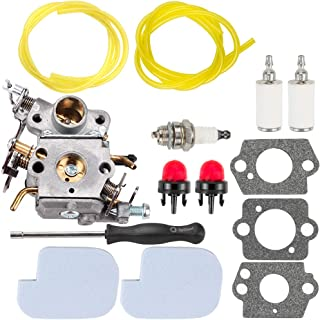 Kuupo 545070601 545040701 530035590 Carburetor with Adjusting Tool Air Filte Repowr Kit for Poulan Pro PP3416 PP3516 PP3816 PP4018 PP4218 PPB3416 SM4218AV Gas Chainsaw ZAMA C1M-W26C Carb W-26 C1M-W26