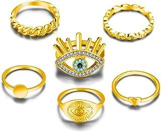 Yinuneronsty Eye Love Knee Ring Set de 6