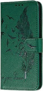 HAOTIAN Case voor Samsung Galaxy S20 FE 4G/5G portemonnee, mooie retro reliëf veren patroon ontwerp PU lederen boek stijl ...