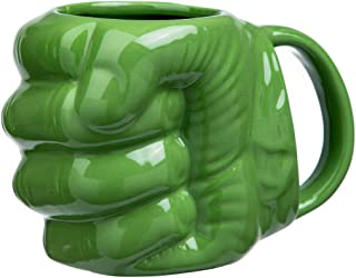 FLY SPRAY Hulk's Fist Shaped Coffee Mug Ceramic Funny Sculptured Novelty Unique Cool Drinks Cup for Juice Milk Or Tea Idea 17 oz