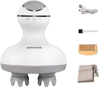 最新型頭皮マッサージャー ヘッドマッサージ多機能全身用リラックス USB充電式 4種のモードの揉み ストレス緩和 不眠症改善 髪質改善 睡眠 頭痛改善 血行促進 発毛促進 静音 IPX7防水 携帯便利