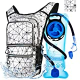 Mothybot Hiking Hydration Pack Backpack with 2l Water Bladder, Hydration Backpack for Men Women|with 5 Pockets, Concealed Pockets On Back Great for Festivals, Raves, Hiking, Biking, Climbing, Running