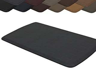 """GelPro Elite Premier Anti-Fatigue Kitchen Comfort Floor Mat, 20x36"""", Vintage Leather Slate Stain Resistant Surface with th..."""