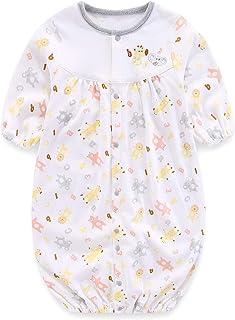 Boo.Kabee 新生児 ツーウェイオール 男女兼用ドレス スタンドアップアニマル柄 50~60cm BKB964H