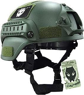 ATAIRSOFT MICH2000 サバゲーヘルメット タクティカル アウトドア エアソフト 戦術ヘルメット 保護 緑 OD
