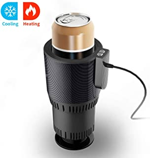 Car Cup Warmer & Cooler,Electric Coffee Warmer Beverage Warmer Heating Cup for Road Trip Black