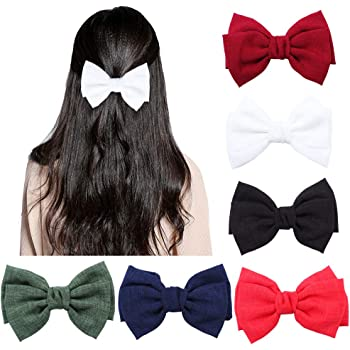 """5/"""" Black Flower Large Bow Hair Alligator Clips Girls Ribbon Bow Kids Accessories"""