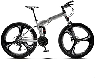 Folding Variable-speed Mountain Bike, Men Women Universal Bicycles, Double Shock-absorbing Three Knife Wheels Student MTB ...