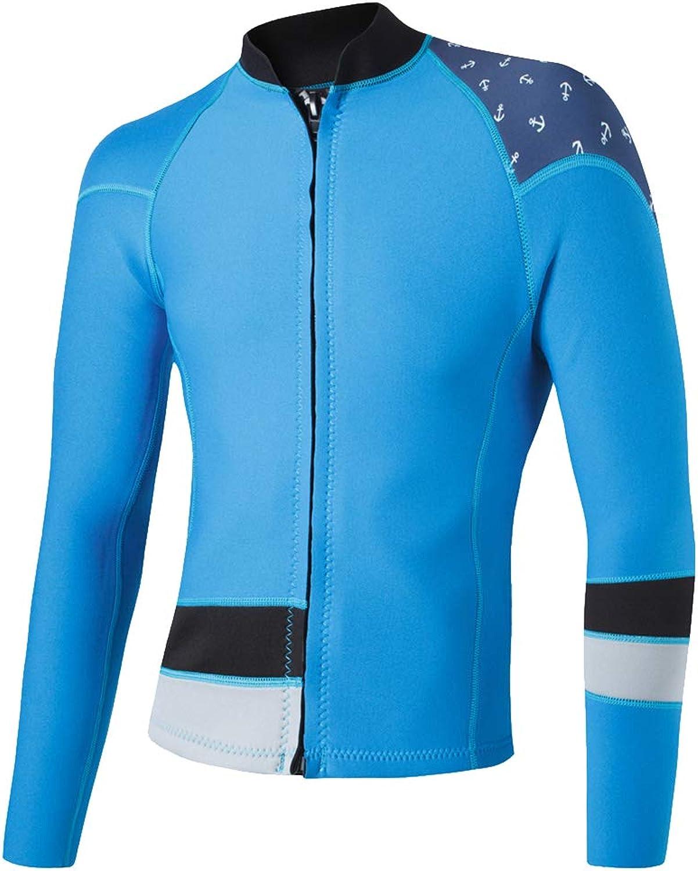 Perfk 2mm Neopren Jacke Wassersport Langarm UV Schutz Shirt Shirt Shirt Surfanzug Badeshirt Rash Guard Oberteile B07PBPJ4PY  Eleganter Stil 626f96