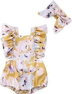 fcddd1342 Amazon.com  Yellows Baby Girls  Bodysuits
