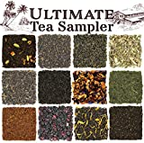 Solstice Loose Leaf Tea Ultimate Sampler Feat. 12 Teas; Sencha & Gunpowder Green Tea, Masala Chai...