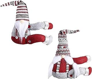 قطعتان من ستائر الكريسماس بإبزيم خلفي ، مشبك من القطن القطيفة على شكل سانتا على شكل دمية على شكل رسوم كرتونية لعيد الميلاد...