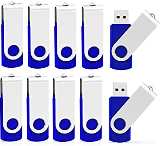 Kootion 32 GB USB Flash Drive 32 gb Flash Drive 10 Pack Thumb Drive Memory Stick Pen Drive Keychain Design Blue
