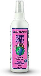 Earthbath Natural Deodorizing Spritz Puppy with Wild Cherry Scent Pump Spray, Yellow, 8Oz