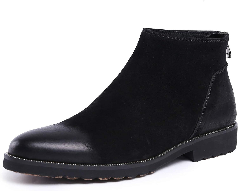 Mans Ankle stövlar läder mocka svart skor Chelsea stövlar Zip Smart Formal Casual bröllop Autumn Winter