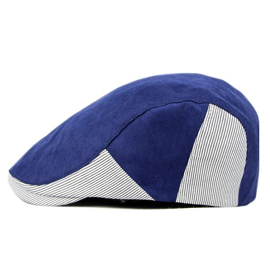 テーブルを設定するセント扱いやすい英国風ベレー帽さんフォワードキャップメンズダックビルバイザーキャップレトロコットンニュースボーイハット レディースファッション帽子 (色 : 青, サイズ : 56-58CM)