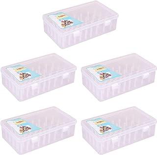 joyMerit 5X Boîte de Fil à Coudre avec 42 Bobines Boîte de Rangement pour Bobines Artisanales de Grande Capacité