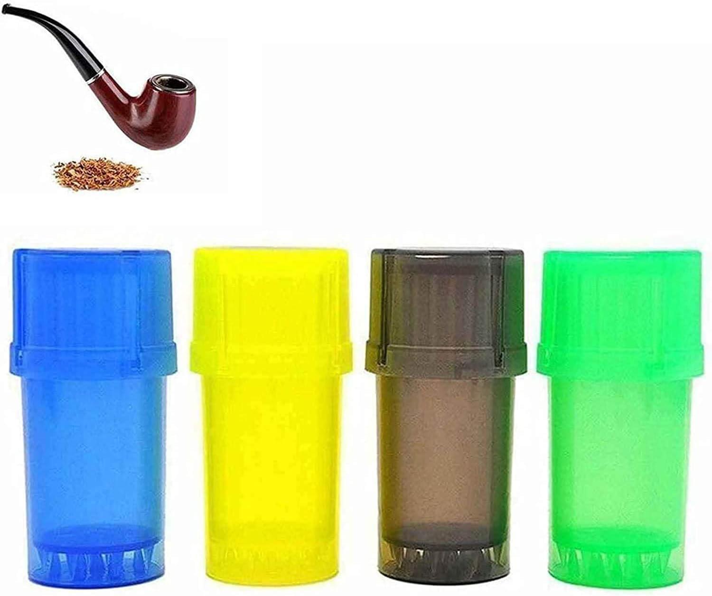 Smerigliatrice Per Erbe Secche Da 4 Pezzi, Grinder Integrato Per Contenitore 3 In 1, Macinacaffè Portatile In Plastica, Utilizzato Per Essiccare Erbe E Tabacco