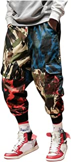 SANFASHION Mens Cargo Trousers Slim Fit Jeans Skinny Jogging Elasticated Chinos Pants Tracksuit Bottoms Men's Oversized Ha...