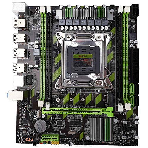 Andifany X79 Motherboard LGA 2011 4 x DDR3 Dual Channel 64Gb Memory SATA 3.0 PCI-E 8 x USB for Desktop Core I7 Xeon E5