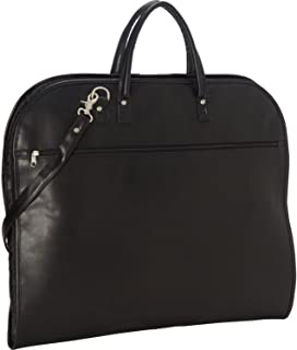 Royce Leather Garment Bag Suitcase in Leather, Black (Black) - 658black-10