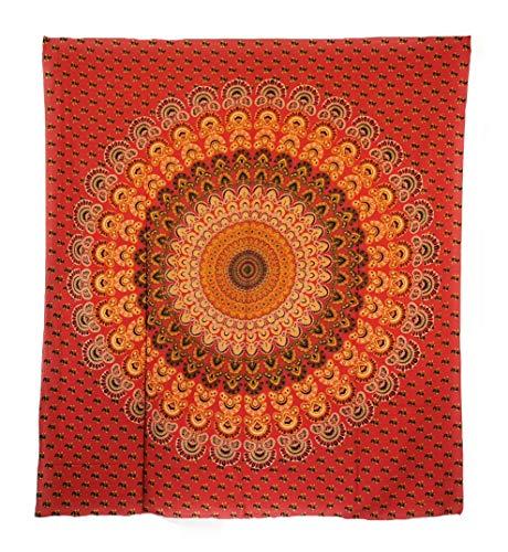 Aga's Own Indische Mandala Tagesdecke, Wandtuch, Tagesdecke Mandala Druck - 100prozent Baumwolle, 210x240 cm, Bettüberwurf, Sofa Überwurf (Muster 02)