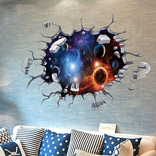 S.Twl.E muurstickers muurschildering kunst decor Verwijderbare waterdichte 3D muur stickers posters hemel plafond dak muur decoraties slaapkamer ideeën dak posters muur