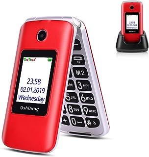 Ushining 3G Seniors Phone Unlocked SIM-Free 3G Flip Mobile Phones Dual SIM Card Slots Flip Phone Large Button Large Volume...