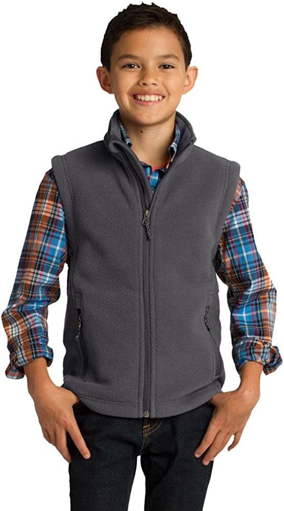 Port Authority Fixed price for sale Youth Value Fleece Vest Large Iron Max 70% OFF Grey