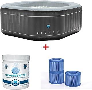 NETSPA Hinchable Silver 5 Plazas Poolstar SP-SLV155C