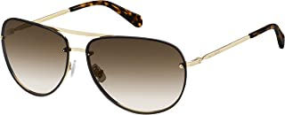 Fossil Unisex 201430 Sunglasses, Color: Lgh Gold, Size: 62