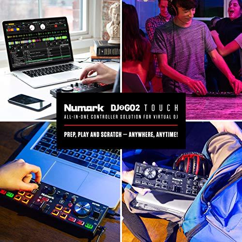 Numark DJ2GO2 Touch – Compact 2 Deck USB DJ Controller