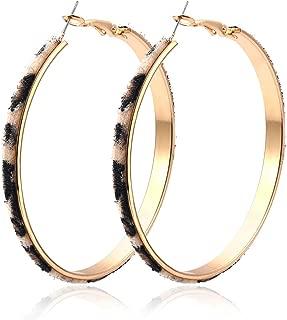 Best leather hoop earrings Reviews